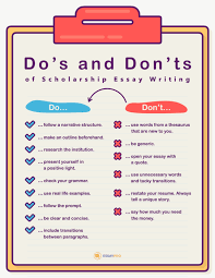 scholarship essay writing dos and donts png