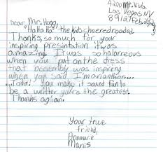 Letters From Students Teachers And Principals Gary Hogg