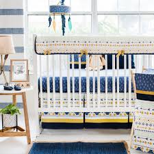 navy aztec crib bedding my baby sam