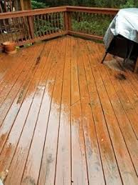 deck stain to dry