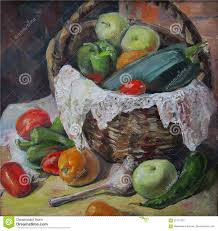country vegetables oil painting abstract ing
