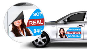 Real Estate Car Magnets Real Estate Magnetic Car Signs