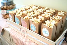 Decorative Popcorn Boxes darling popcorn display lunch sacks cut with decorative scissors 42