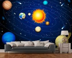 Colourful Solar System Wall Mural Wallpaper