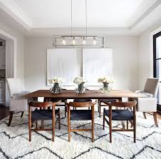 dining room lighting design. The Dining Room Rug Mixed With Mid-century Chairs Make This Scandinavian Design A Dream Come True. Lighting