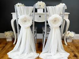 chair bows. diy wedding chair sashes bows