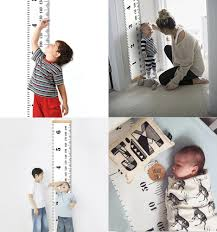 Us 4 24 15 Off Scandinavian Style Baby Child Kids Height Ruler Growth Size Chart Height Measure Ruler Wall Sticker For Room Home Decoration Ins In