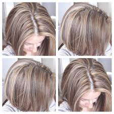 Tri Color Dimensional Hair Highlights Blonde