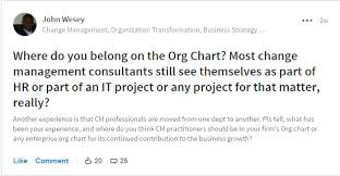 Change Managers On Organizational Chart Change Management