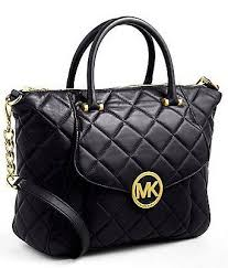 MICHAEL MICHAEL KORS Fulton Quilted Leather Satchel Bag Black ... & MICHAEL MICHAEL KORS Fulton Quilted Leather Satchel Bag Black Adamdwight.com