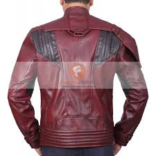 guardians of galaxy vol 2 star lord ox blood two tone red leather jacket mens