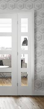 image of 4 panel white interior doors glass white internal doors ladder panel moulded primed