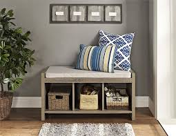 entry furniture storage. amazoncom altra penelope entryway storage bench with cushion sonoma oak kitchen u0026 dining entry furniture