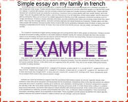 simple essay on my family in french term paper service simple essay on my family in french quality essays write an essay on my family