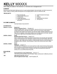 Sample Resume Casino Supervisor