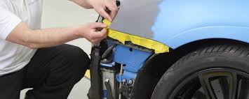 use of q1 yellow masking tape on a car