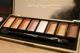 brown gold white apricot eye shadow mac cosmetics nail polish makeup palette