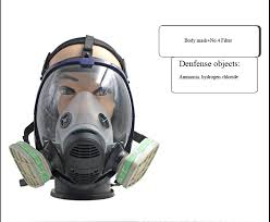 industry safety super viewing gas mask defense ammonia hydrogen sulfide mask filter respirator chemical gas mask ithirek com