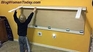 build a folding table on the wall