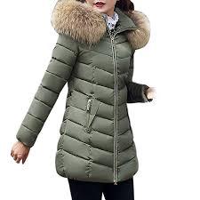 JESPER <b>Fashion Winter Women</b> Puffer Jacket Long Thick Warm ...