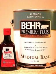 remembering this when i paint my new house to get rid of paint fumes add a tablespoon of vanilla extract to a gallon of paint mix well