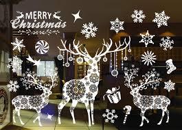 Sinwind Weihnachten Fenstersticker Fensteraufkleber Pvc Fensterbilder Weihnachten Fensterdeko Selbstklebend Fensterfolie Weihnachtsdekoration