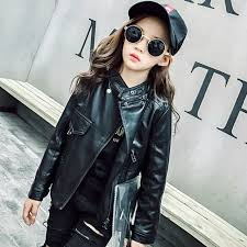 girls coats autumn faux leather jacket for girls clothes kids pu outerwear coats teenagers girls jackets