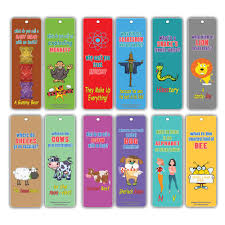 Bookmarks Cards For Kids 60 Pack Hilariously Silly Jokes Series 2 Funny And Hilarious Learning Pack Excellent Party Favors Teacher Classroom
