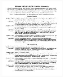 50 Resume Objective Statements  Palladian Career