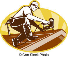 roof clipart. Interesting Clipart Roofer Roofing Worker Working On Roof  Illustration Of A Inside Clipart A