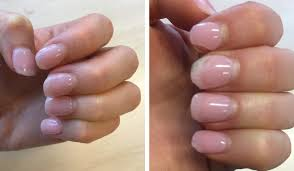 i noticed that i used my nails to type and now understand why polish never lasts more than a day on me but by the end of the second week my nails were