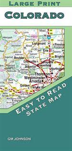 Colorado Mileage Chart Colorado State Map Folded Large Print