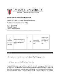 english comparative and contrast essay course outline school of architecture building design research unit for modern architecture studies in southeast asia