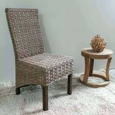 impressive of white rattan dining chairs pertaining to wicker