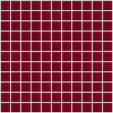 red glass mosaic tile 1 inch burdy red glass tile red glass mosaic tile uk