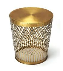 gold metal side table antique gold metal lattice design accent side table round gold metal side