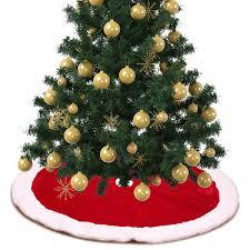 Großhandel 1 Stück Weihnachtsschmuck Weihnachtsbaum Röcke Für Haus Traditionelle Rote Und Weiße Baum Rock Geschenk Party Ornament Liefert Von Crape
