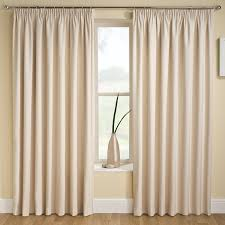 tranquility plain stripe natural cream 90 x 54 thermal backed curtains 229cm wide x 137cm drop approx ready made curtains next semi blackout curtains