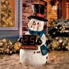 decorations outdoor 29 resin snowman countdown clock sculpture yard