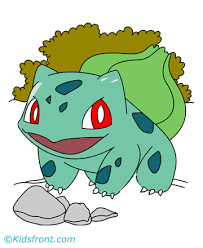 Small Picture Bulbasaur Coloring Pages for Kids to Color and Print