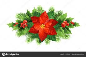 Roten Weihnachtsstern Blume Weihnachten Illustration