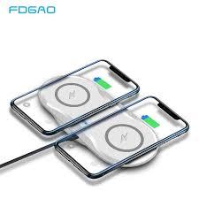 FDGAO 10 Вт Qi автомобильное беспроводное зарядное ...