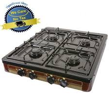 details about camping gas stove 4 burner portable cooking top outdoor propane backyard cooker