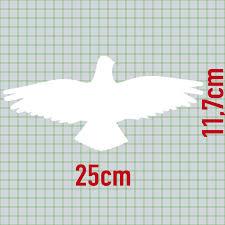 Warnvogel Aufkleber 25cm Weiß Habicht Vogel Schreck Fenster Schutz
