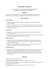 Example Skills Based Cv Examples Exampleskillsbasedcv