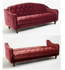 amazing of red sofa sleeper red velvet sofa bed burdy tufted futon couch merlot wine