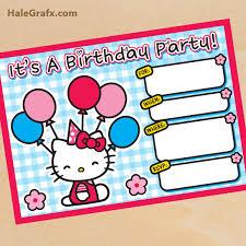 Hello Kitty Party Invitation Free Printable Hello Kitty Birthday Invitation