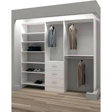 canvas closet organizer hanging with drawers