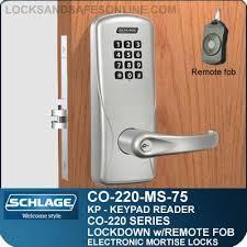 schlage keypad locks. Mortise Electronic Keypad Locks | Schlage CO-220-MS-75-KP