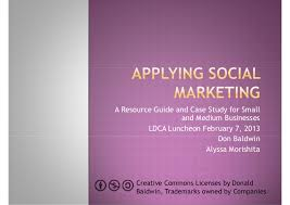 Social marketing ldca